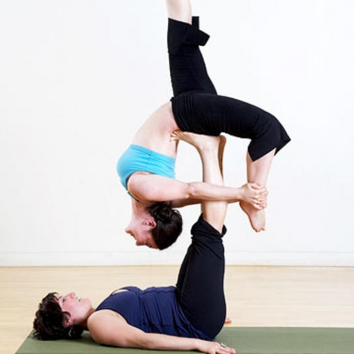 basic advanced 2 person yoga poses picture