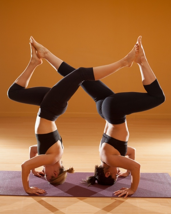 basic weird yoga poses for two image