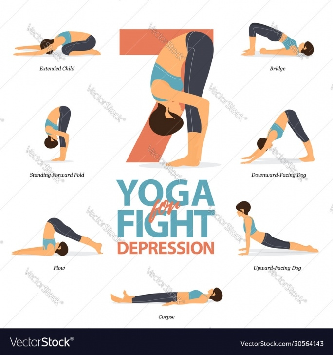basic yoga poses for depression photos