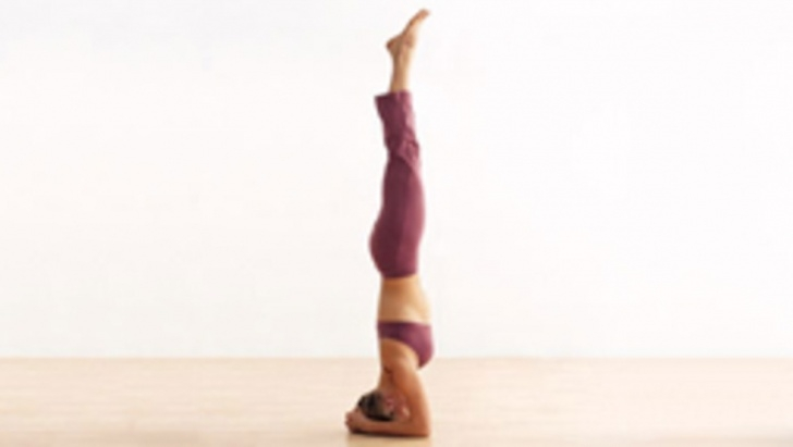 basic yoga poses just mobile headstand photo