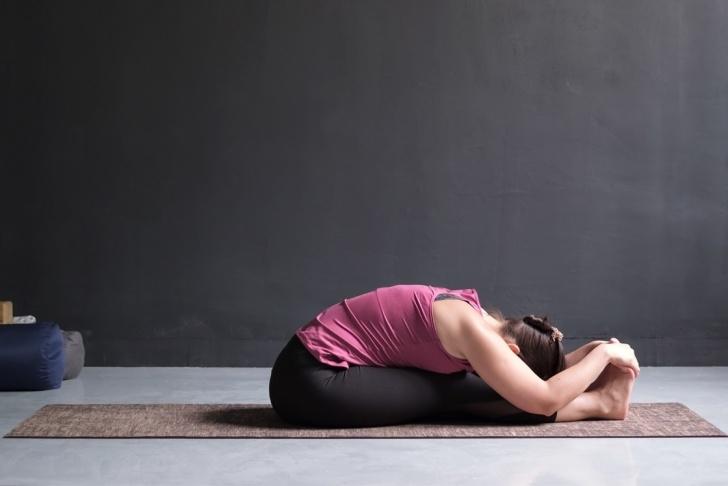 basic yoga poses procedure of paschimottanasana pictures