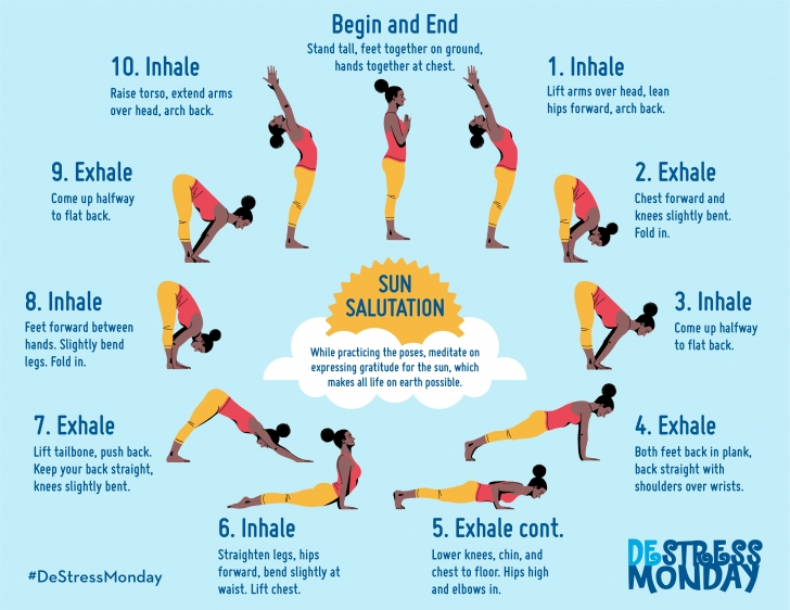 basic yoga poses sun salutation surya namaskar photo