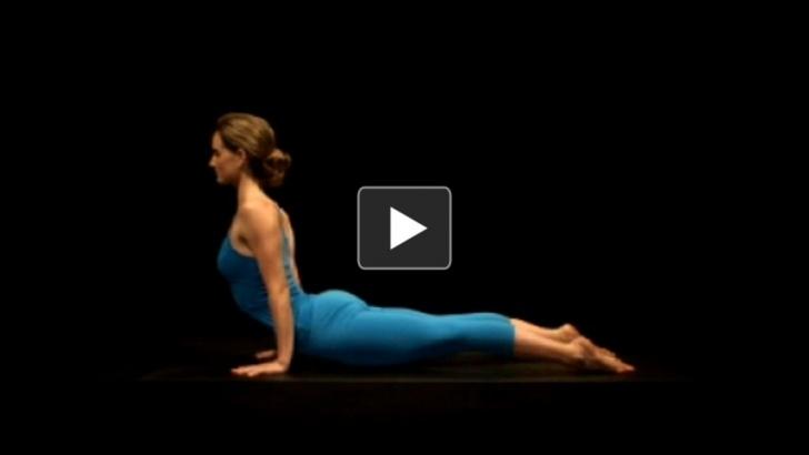 basic yoga poses upward dog reflection photo