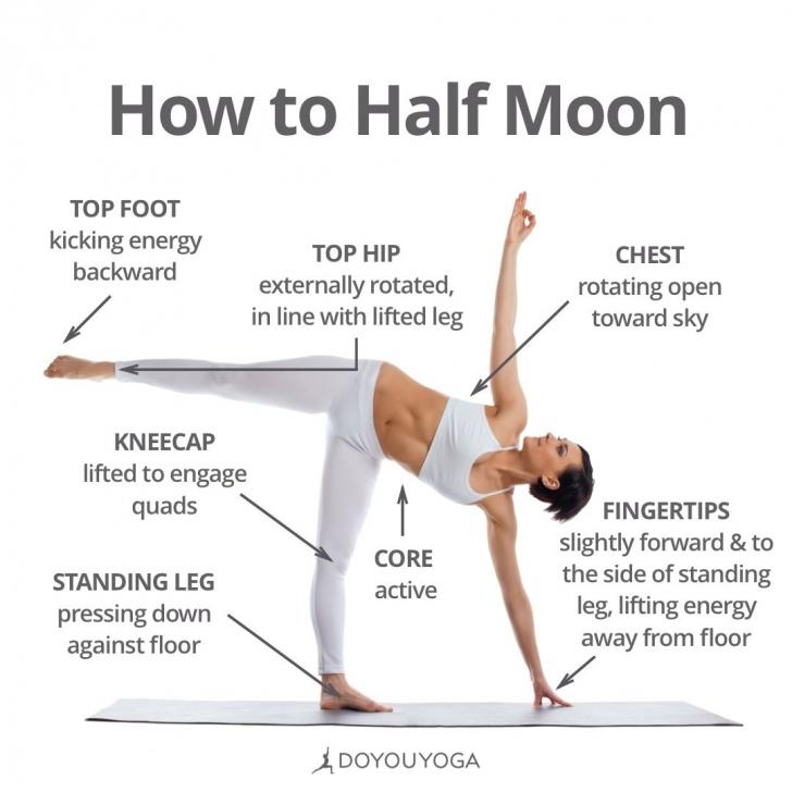 best benefits of half moon pose photos