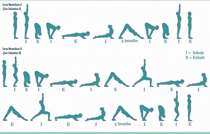 best sun salutation yoga flow photo