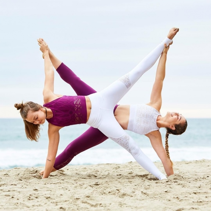 best two person yoga poses hard images