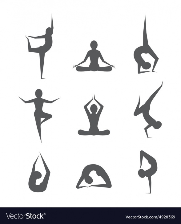 best yoga pose vector pictures
