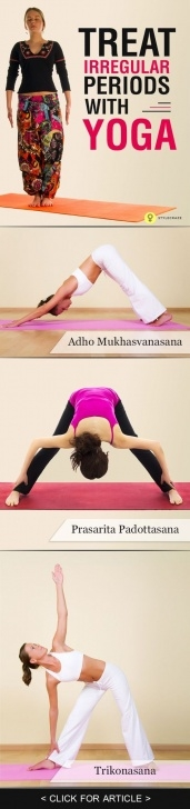 best yoga poses for irregular periods image