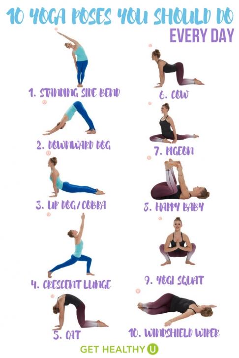 best yoga poses routine photos