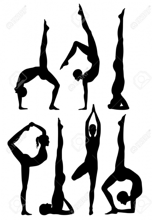 best yoga positions drawing images