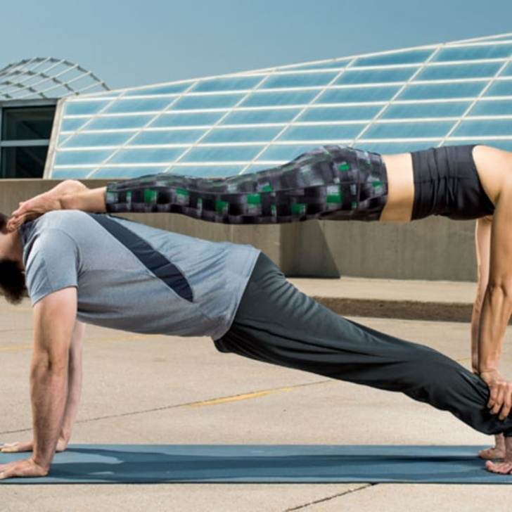 easy acro yoga poses for 2 images