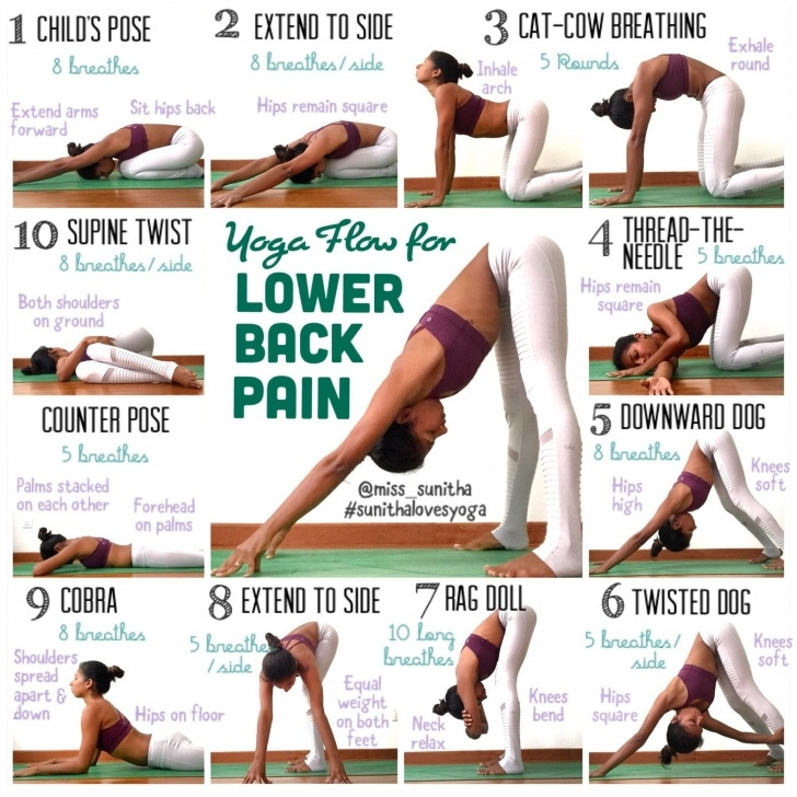 easy back pain with yoga pictures
