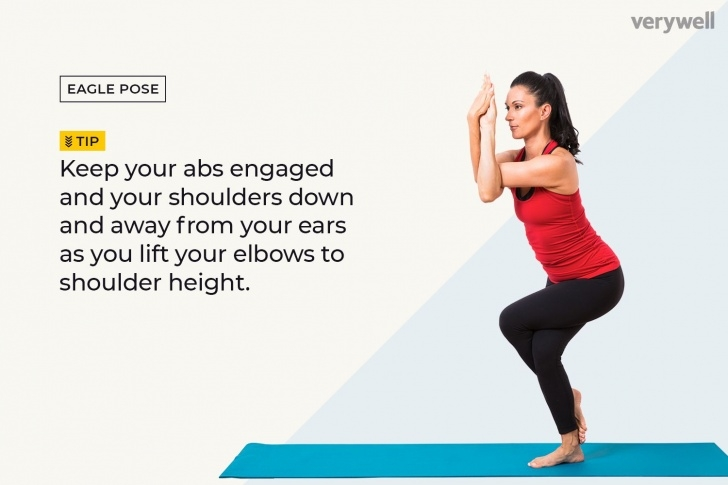 easy eagle pose sequence images