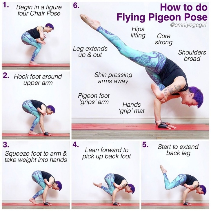 easy flying pigeon pose yoga images