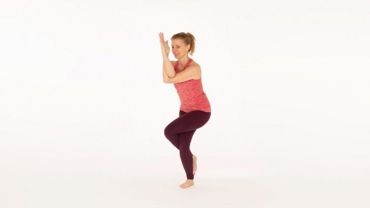 easy garudasana yoga pose pictures