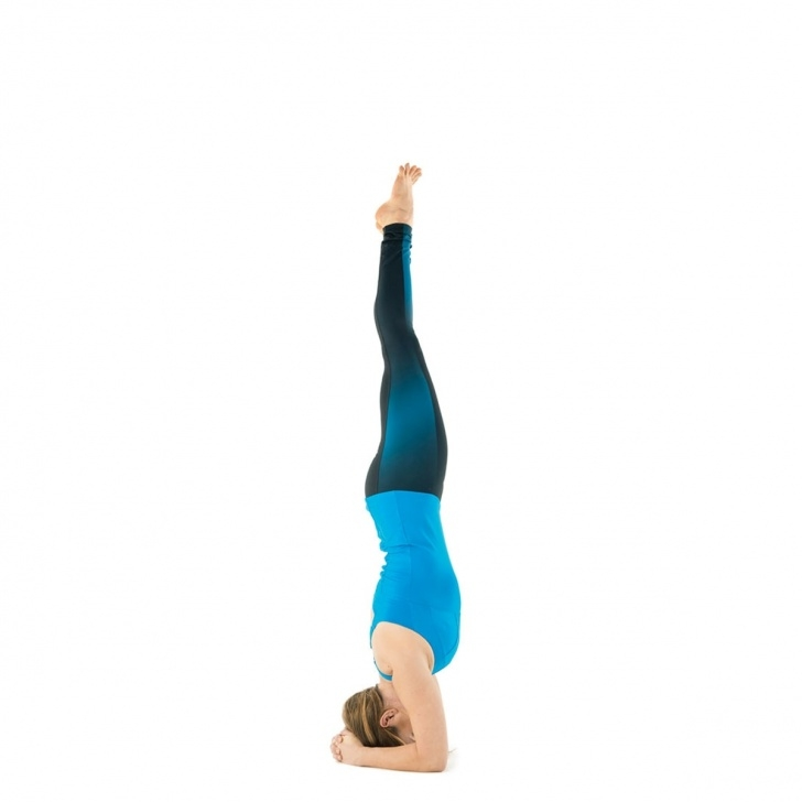easy headstand yoga pose image