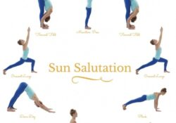 easy sun salutation pose yoga photo