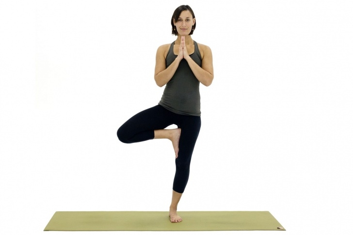 easy yoga poses standing picture