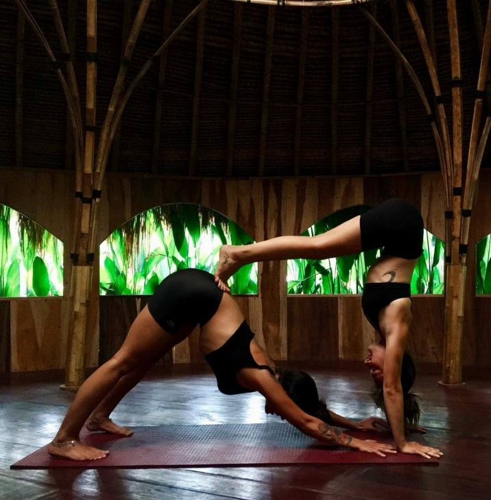 essential easy yoga poses for two people photos