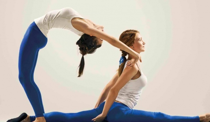 essential gymnastics yoga poses for 2 photos