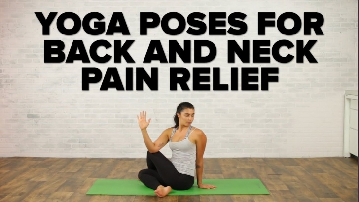 fun and easy back neck pain yoga image