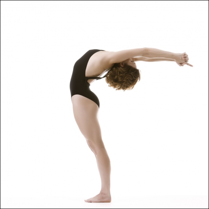 guide of half moon pose bikram picture