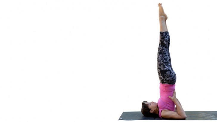 guide of shoulder stand yoga photos