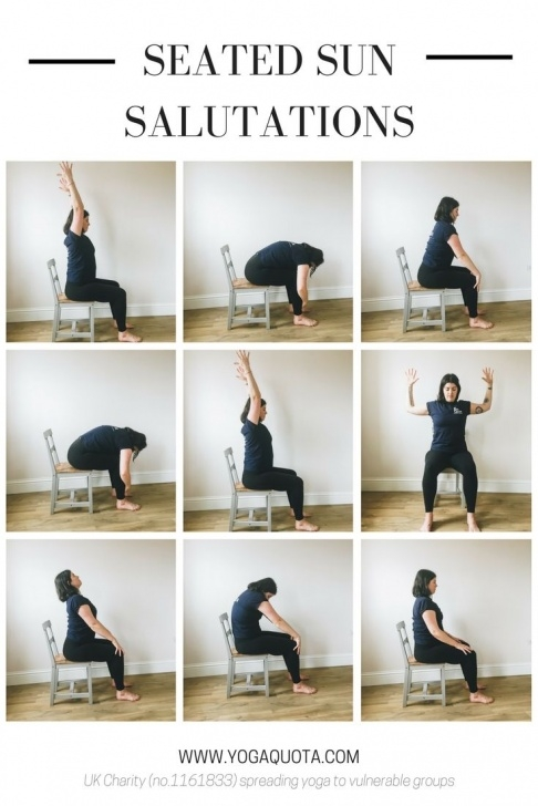 guide of sun salutation chair yoga pictures