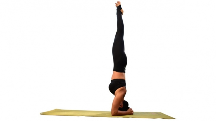 guide of yoga poses headstand without hands picture