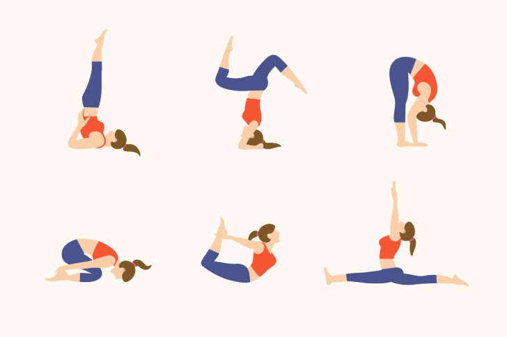 guide of yoga poses illustration pictures