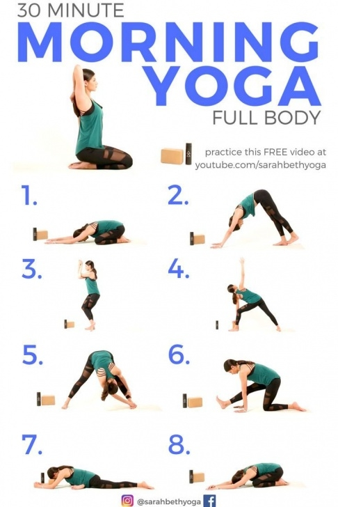 guide of yoga poses morning photo