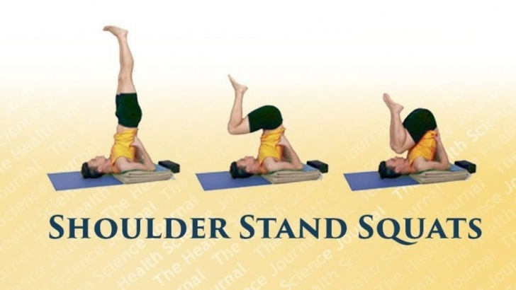 guide of yoga poses shoulder stand squats photo