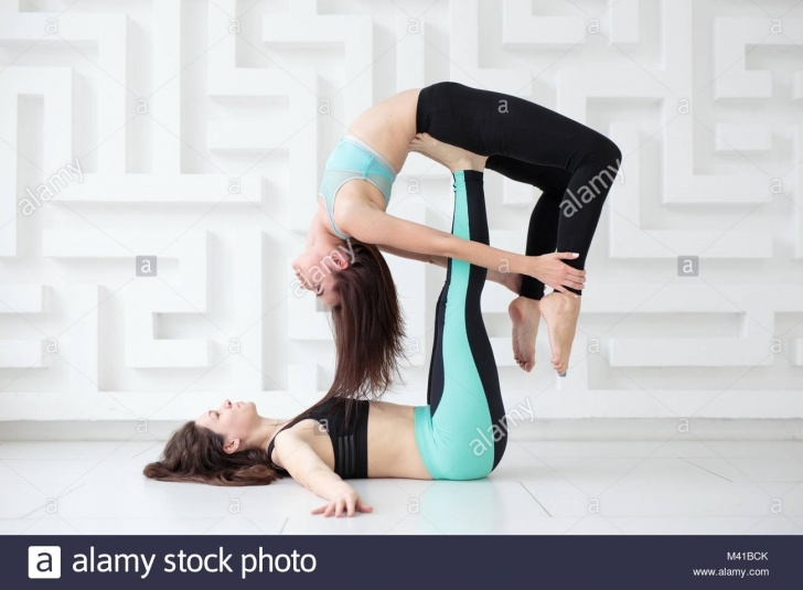 most common acro yoga poses for 2 photos