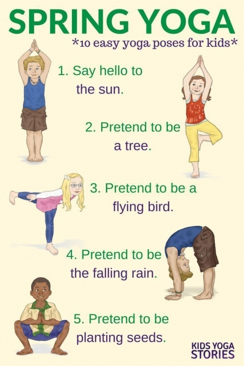 most common easy yoga poses for kids image