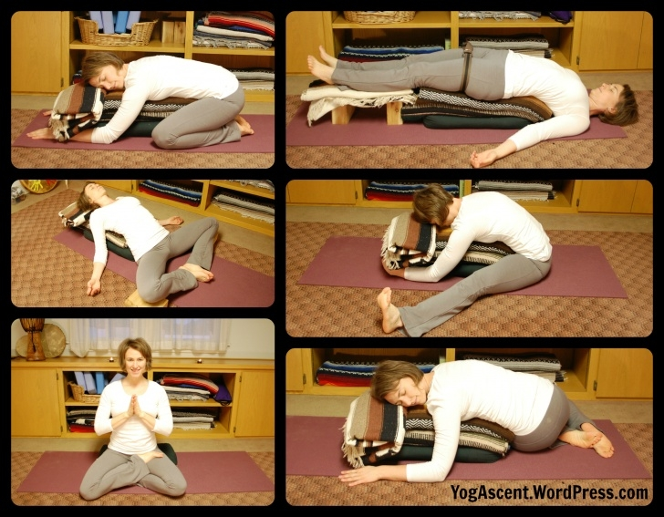 most common restorative yoga poses for back photo