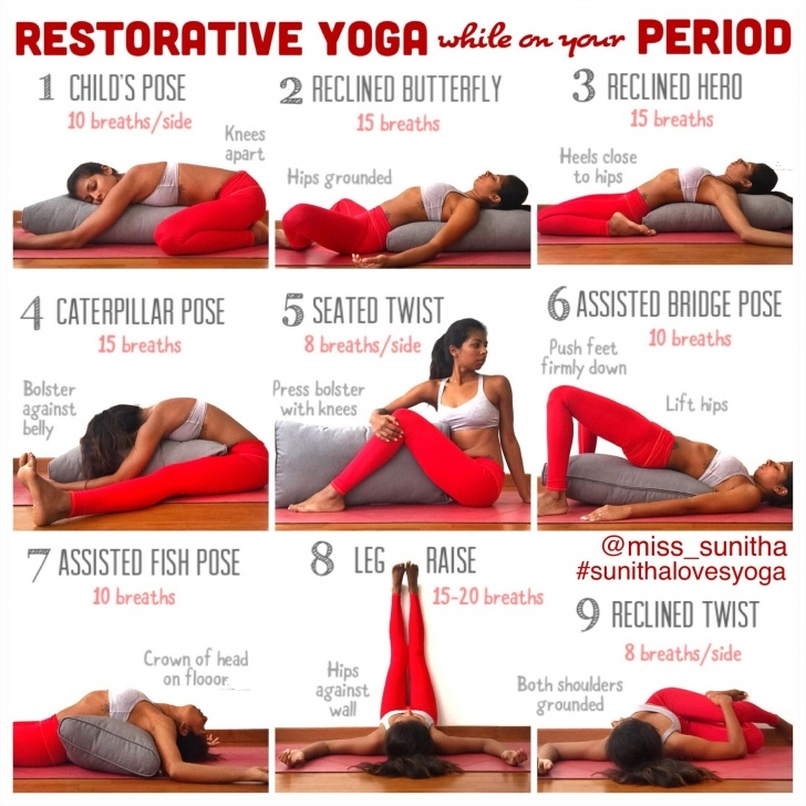 most common yoga poses for menstruation picture