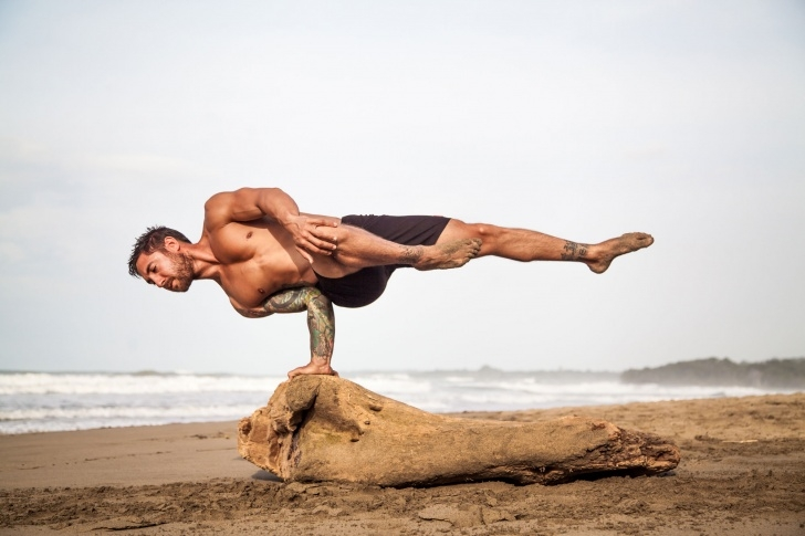 most common yoga poses male images