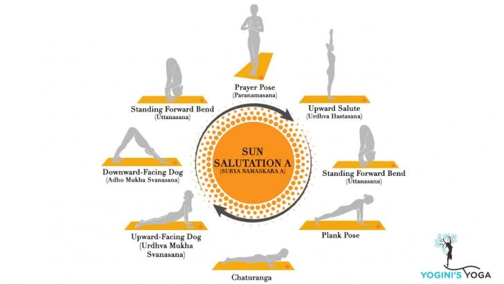 most common yoga poses sun salutation asanas photos