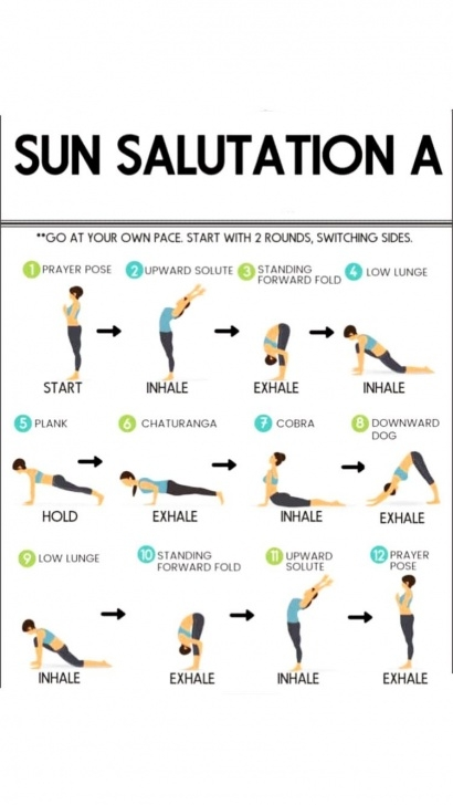 most common yoga poses sun salutation quotes picture