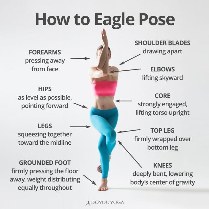 most important eagle pose yoga photos