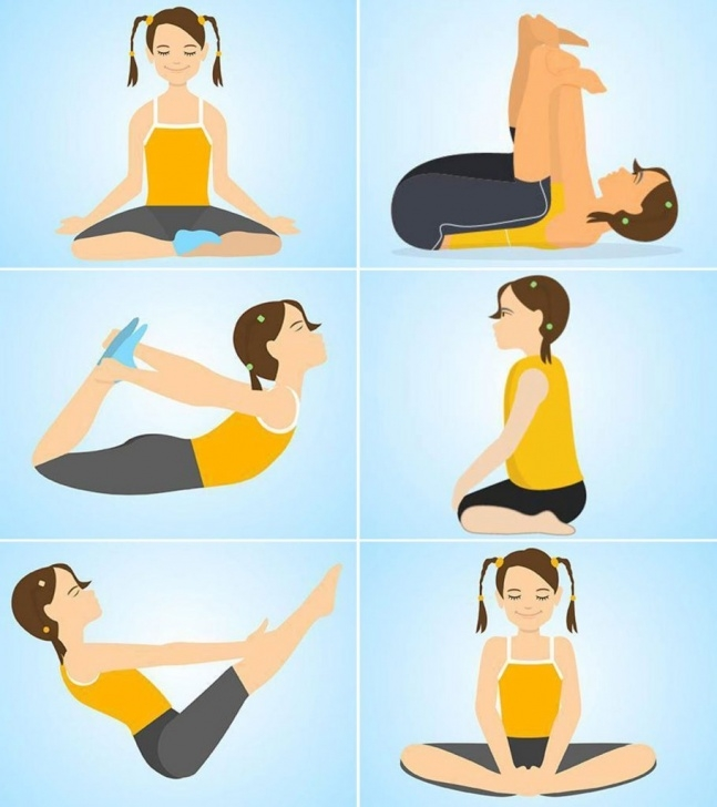 most important yoga poses for kids with names image