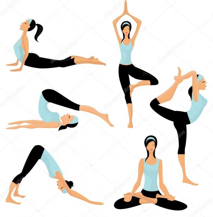 most important yoga poses illustration photos