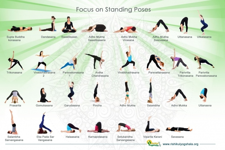 must know yoga asanas photos with names photos