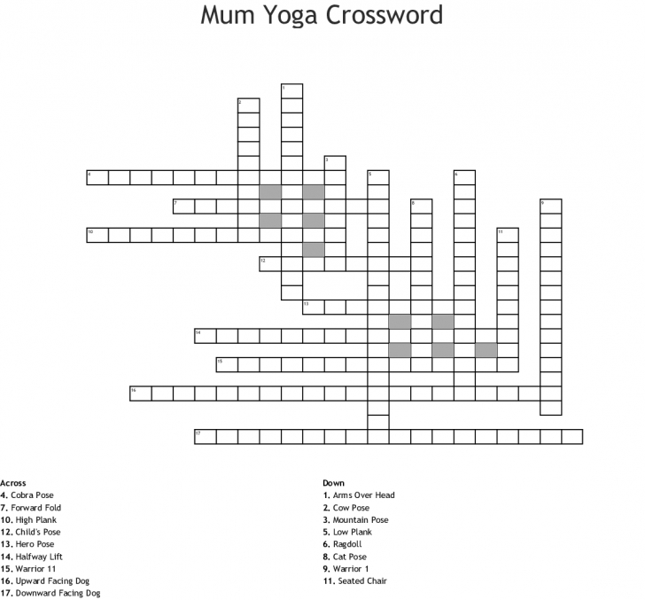 must know yoga poses crossword photos