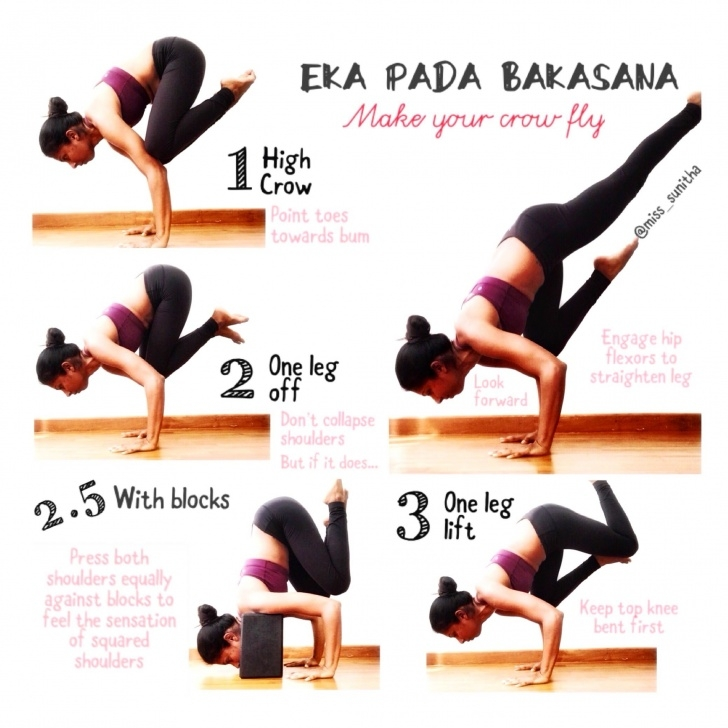 must know yoga poses eka pada bakasana photo
