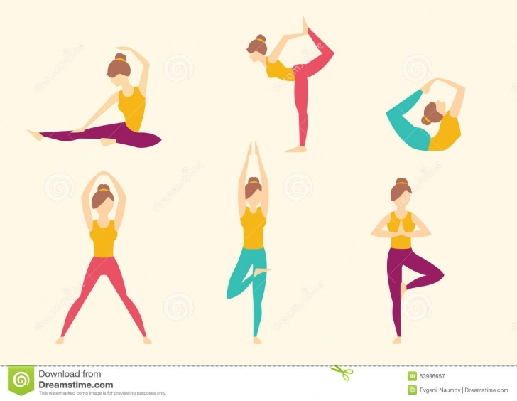 must know yoga poses illustration image