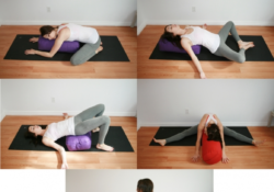 popular restorative yoga poses with bolster pictures