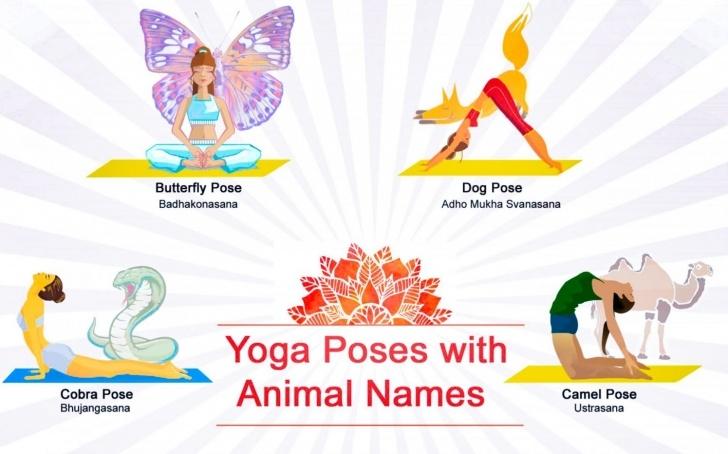 popular yoga asanas images with names in hindi photos