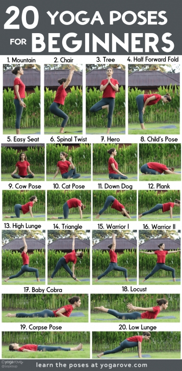 popular yoga poses for beginners printable images
