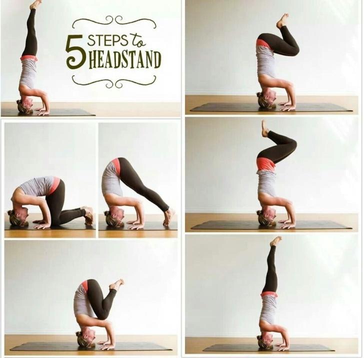 popular yoga poses headstand world record photo